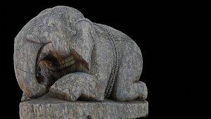 Elephant with 3 LOD - Nepal Heritage 3D model