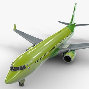 boeing 737-8 s7 airlines 3D