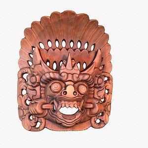 3D model african mask 03 modeled