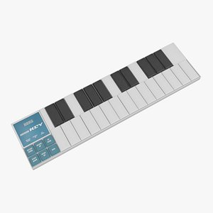 3D USB-MIDI Controller Korg nanoKey model
