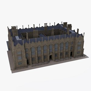 gothic building school 3D model
