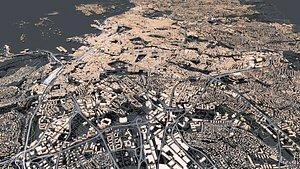 3D Cityscape Oslo Norway