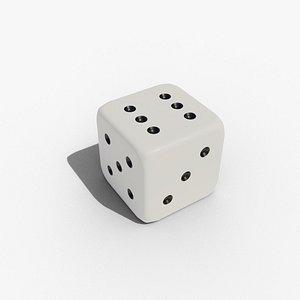 3D dice d6 model