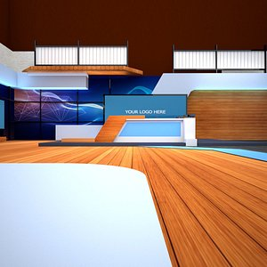 Virtual studio set 3D model