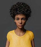 Rigged Cartoon Woman Model