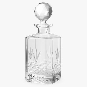 glass decanter glassware crystal 3D