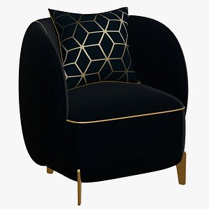 Chair Gold Luxury 3D model