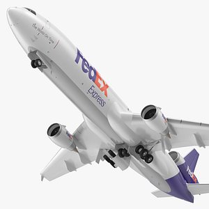 McDonnell Douglas MD11 Tri Jet Airliner FedEx Rigged 3D model