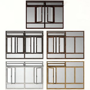 3D Swing stained glass wooden windows