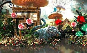 3D model Alice in Wonderland