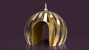 3D Ramadan Dome Tunnel