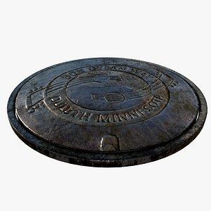 3D sewer lid