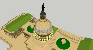 3D model USA CAPITAL BUILDING