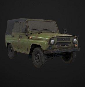 3D model UAZ