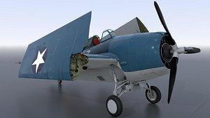 grumman aircraft airplane 3D