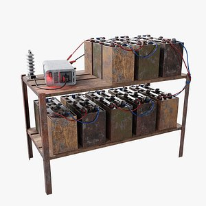 3D battery bank model