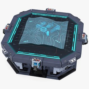 3D sci-fi table hologram