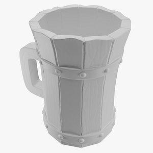 3D Beer Stein Mug Of Ale For Tavern Print