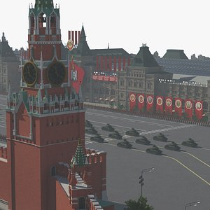 moscow red square soviet 3D model