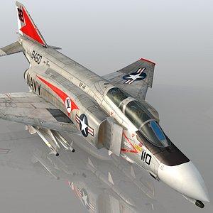 F4 B Phantom II VF-14 Tophatters USS John F Kennedy 3D
