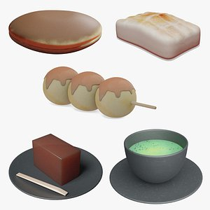 3D Wagashi Collection