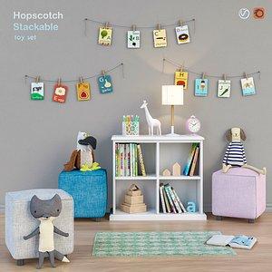 3D model wardrobe toys hopscotch