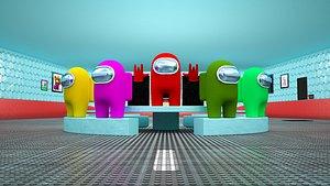 scene cafeteria 3D