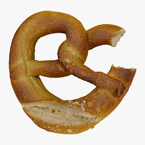 pretzel food snack model