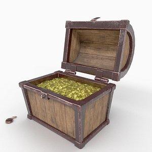 3D chest wooden