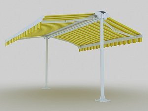 Double awning 3D model