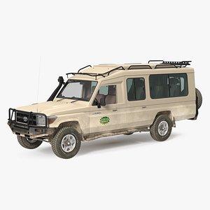 Toyota Land Cruiser Safari Beige 3D model