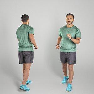 Indian man in sportswear walking 311 3D model