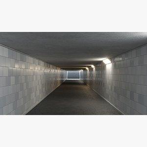 Underground tunnel 03 3D model