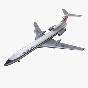 3D Tupolev Tu-154 USSR With LODs model