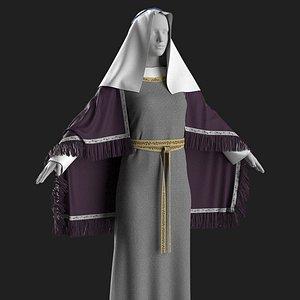 Medieval dress2 Marvelous Designer 3D model