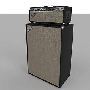 Fender Bassman 100T 3D model