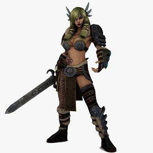 Freya Old Norse Freyja Lady Warrior 3D