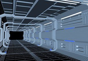 Technology tunnel travel through future space technology travel through tunnel time tunnel time trav 3D model