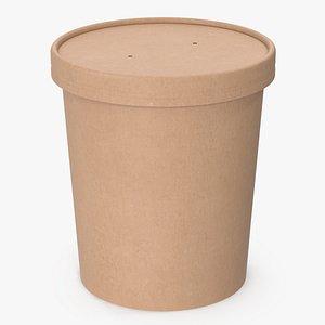 cup food kraft 3D