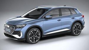 3D Audi Q4 e-tron s-line 2022 model