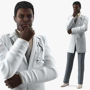 african american male doctor 3D