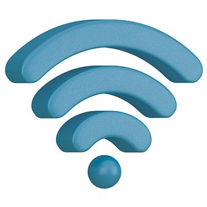 wifi symbol 3D