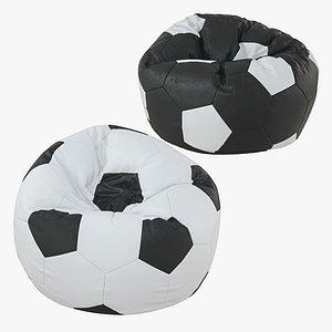 3D bean bag soccer ball