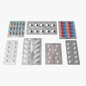 Drug Blister Packs Collection 3D model