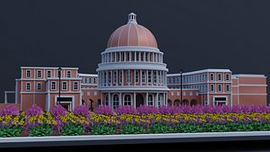 3D building national assembly headquarter