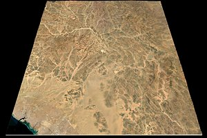 Mecca Red Sea n24 e38 topography Saudi Arabian 3D