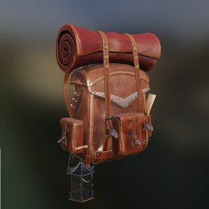 3D model backpack