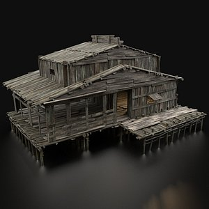 swamp wetland wooden 3D model