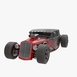 3D Ford 5 Window Hot Rod
