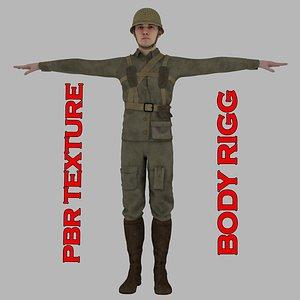Warr II Soldier 3D model